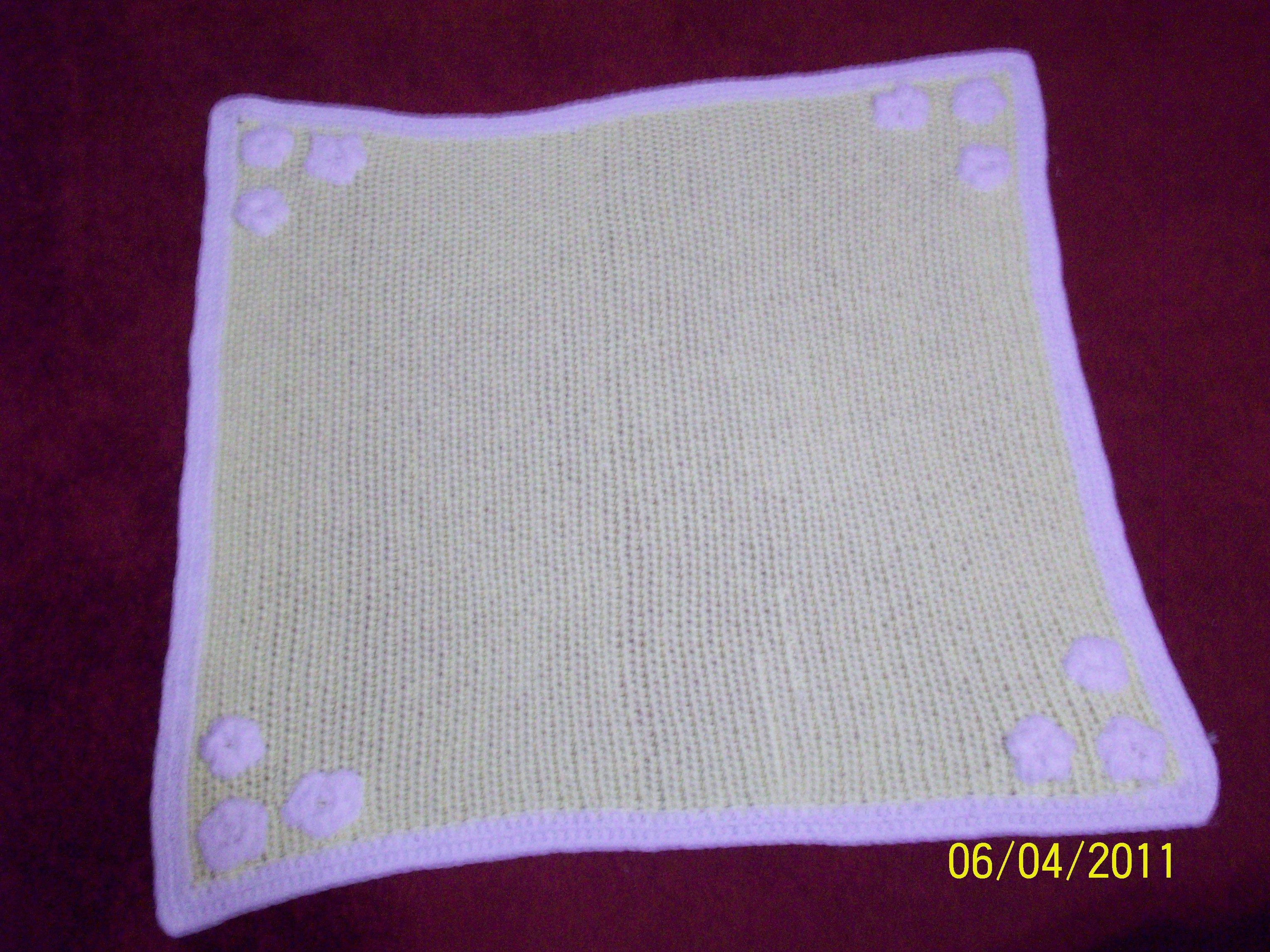 Crochet Baby Blanket With Flower embellishments | Working out Kinks ...